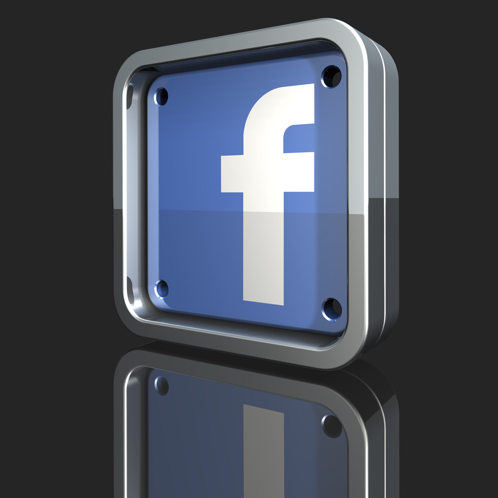 Metallic Facebook Logo